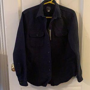 j crew heavy cotton work shirt
